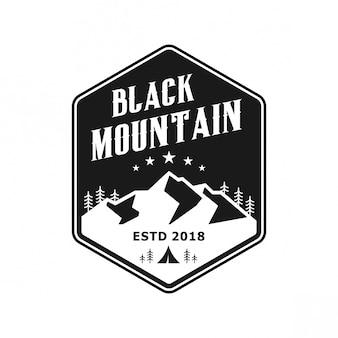 Logo vintage de montagne noire
