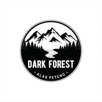 Logo vintage de montagne
