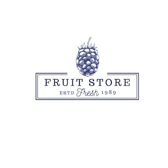 Logo vintage de nourriture de magasin de saucisses