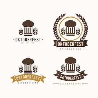 Logo vintage d'oktoberfest