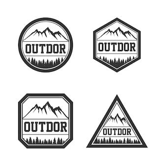Logo vintage d'outdor