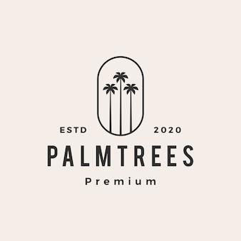 Logo vintage de palmier