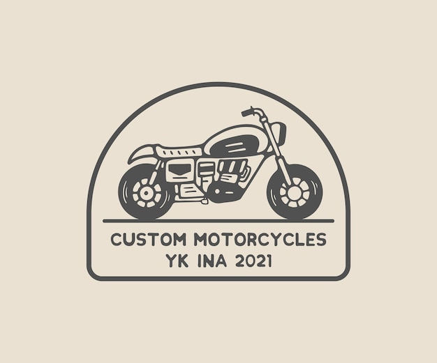 Logo vintage personnalisé classique de moto