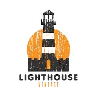 Logo vintage phare