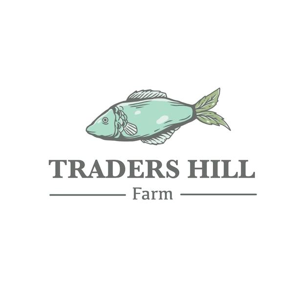 Logo vintage de poisson