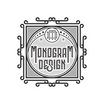 Logo vintage pour étiquettes d'aliments ou de boissons