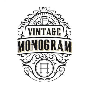 Logo vintage pour les étiquettes de nourriture / boisson ou les restaurants et les cafés