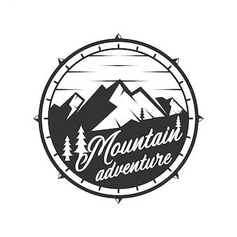 Logo vintage pour l'extérieur avec des éléments de montagne