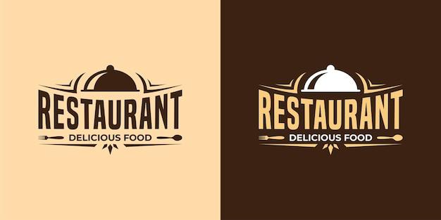 Logo vintage de restaurant