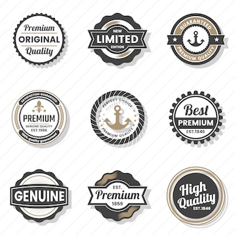 Logo vintage retro vector pour bannière