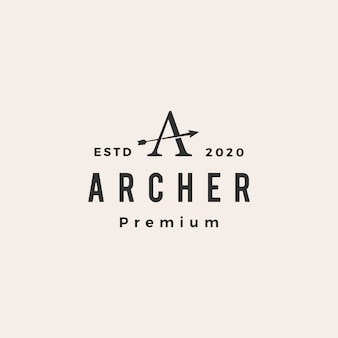 Logo vintage de santé archer
