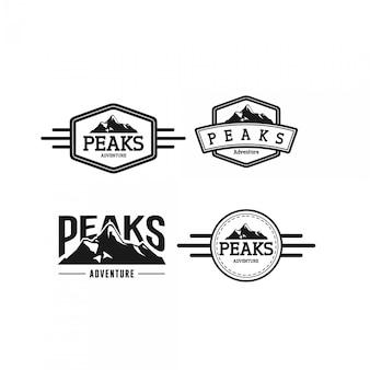 Logo vintage set sommets