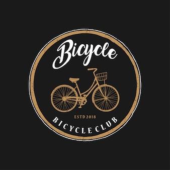 Logo vintage de vélo