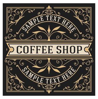 Logo vintage vintage pour restaurant, café