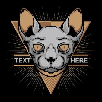 Logo de visage de chat simple