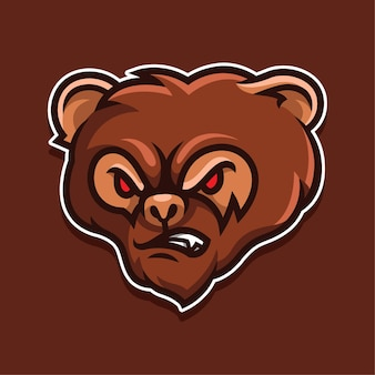 Logo de visage de singe en colère