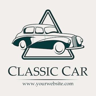 Logo de voiture classique en couleur unique