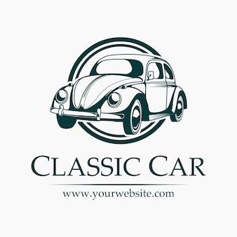 Logo de voiture classique drôle