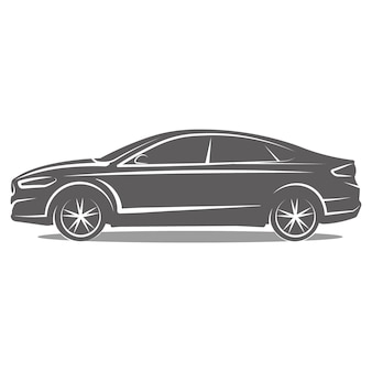 Logo voiture icône emblème template design vector illustration