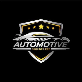 Logo de voiture métallique réaliste