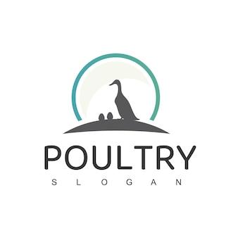 Logo de volaille avec symbole de canard
