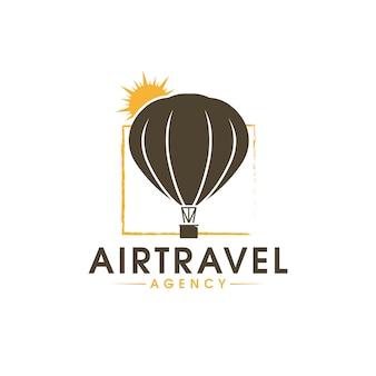 Logo de voyage aérien