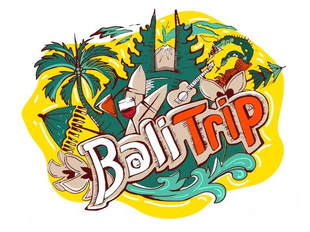 Logo de voyage bali indonésie