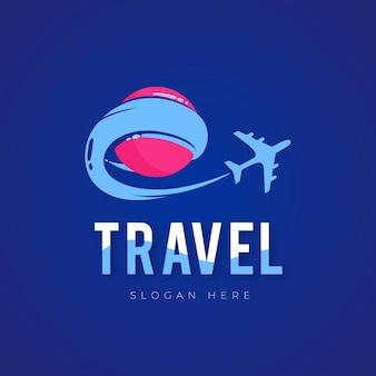 Logo de voyage détaillé avec avion