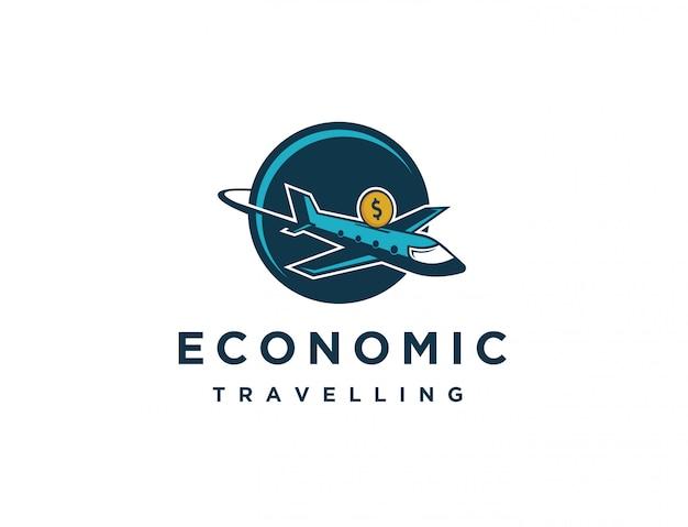 Logo de voyage économique
