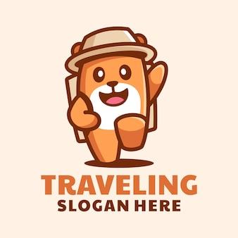 Logo de voyage mignon hamster
