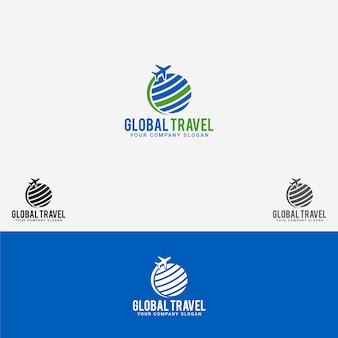 Logo de voyage mondial