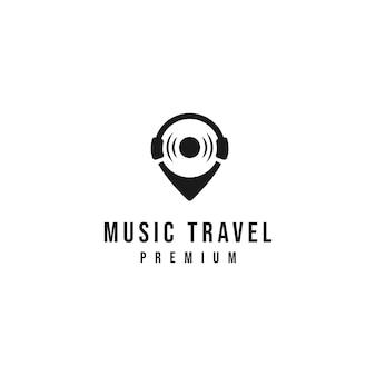 Logo de voyage de musique