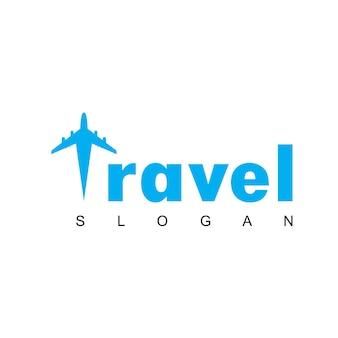 Logo de voyage avec symbole d'avion