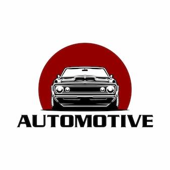 Logo de vue de face classique de voiture