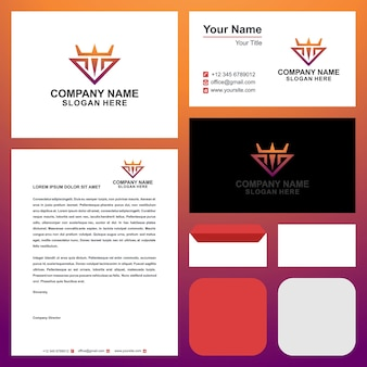 Logo w couronne et carte de visite