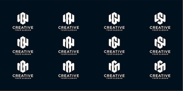 Logo w et m combinés avec des lettres