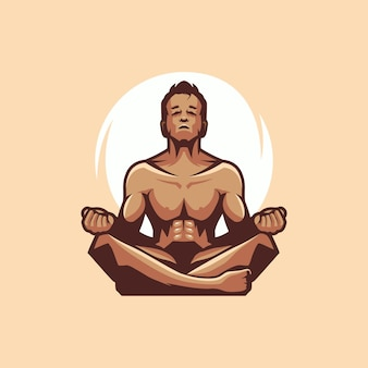 Logo yoga homme avec
