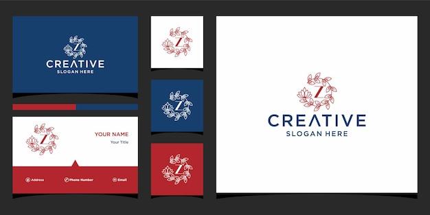 Logo z luxe avec modèle de carte de visite