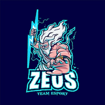 Logo zeus mascot pour l'esport et le sport