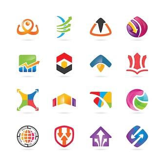 Logos abstraits numériques créatifs