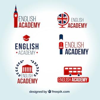 Logos d'académie d'anglais mis en place