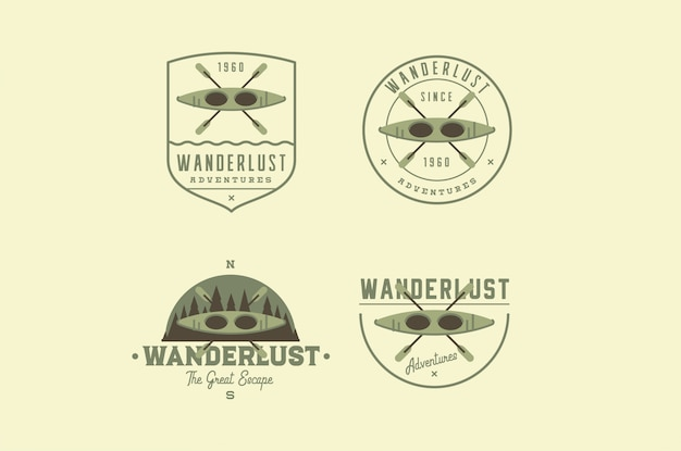 Logos d'aventure de voyage