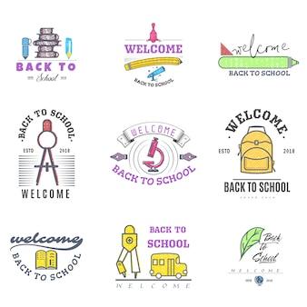 Logos et badges de la rentrée scolaire