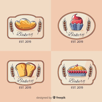 Logos de boulangerie d'art en ligne