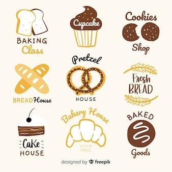 Logos de boulangerie dessinés à la main