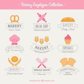 Logos de boulangerie mignon