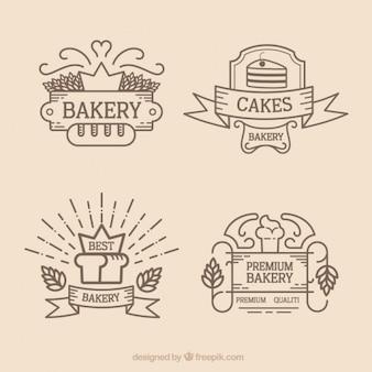 Logos de boulangerie outlined