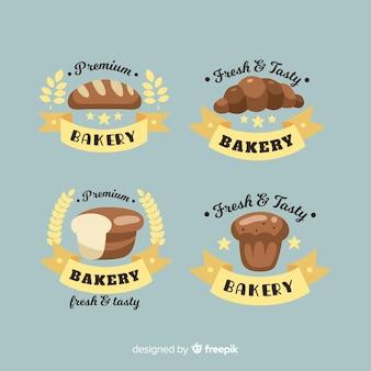 Logos de boulangerie à plat
