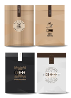 Logos de café pour l'emballage