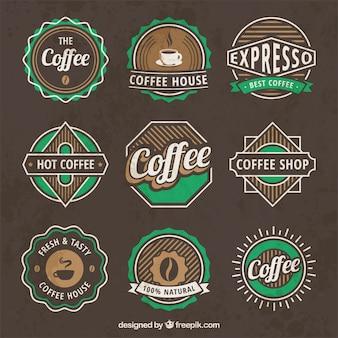 Logos de café vintage